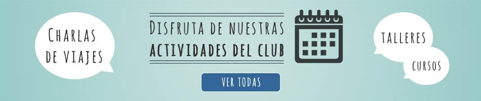 Actividades y Charlas del club de viajes