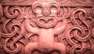 Talla maorí Nueva Zelanda cultura