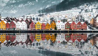 Viaje a Noruega. En grupo. Fiordos noruegos en invierno